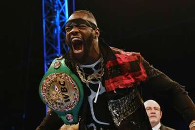 Deontay Wilder apologises for punching mascot on live TV