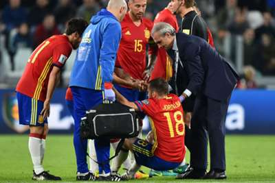 Jordi Alba dropped from Spain's squad because of injury