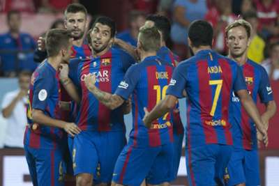 Sevilla 0 Barcelona 2: Injuries mar Barca taking Supercopa advantage