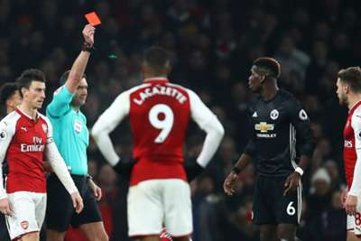 Paul Pogba sees red over Arsenal's Laurent Koscielny reaction to dismissal class=