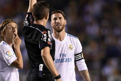 Zinedine Zidane unhappy with Sergio Ramos red card at Deportivo La Coruna